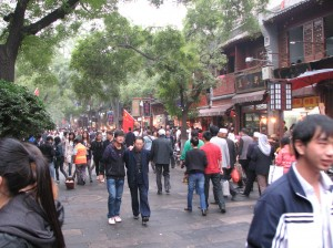 A busy street in Beijing