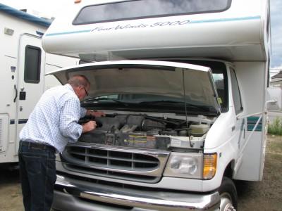 inspecting a motorhome