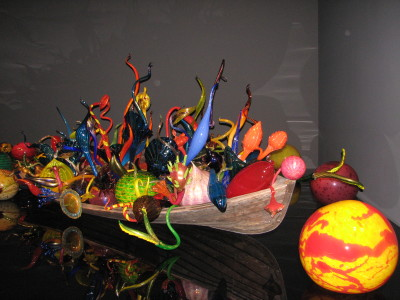Blown Glass display at Chihuly Museum