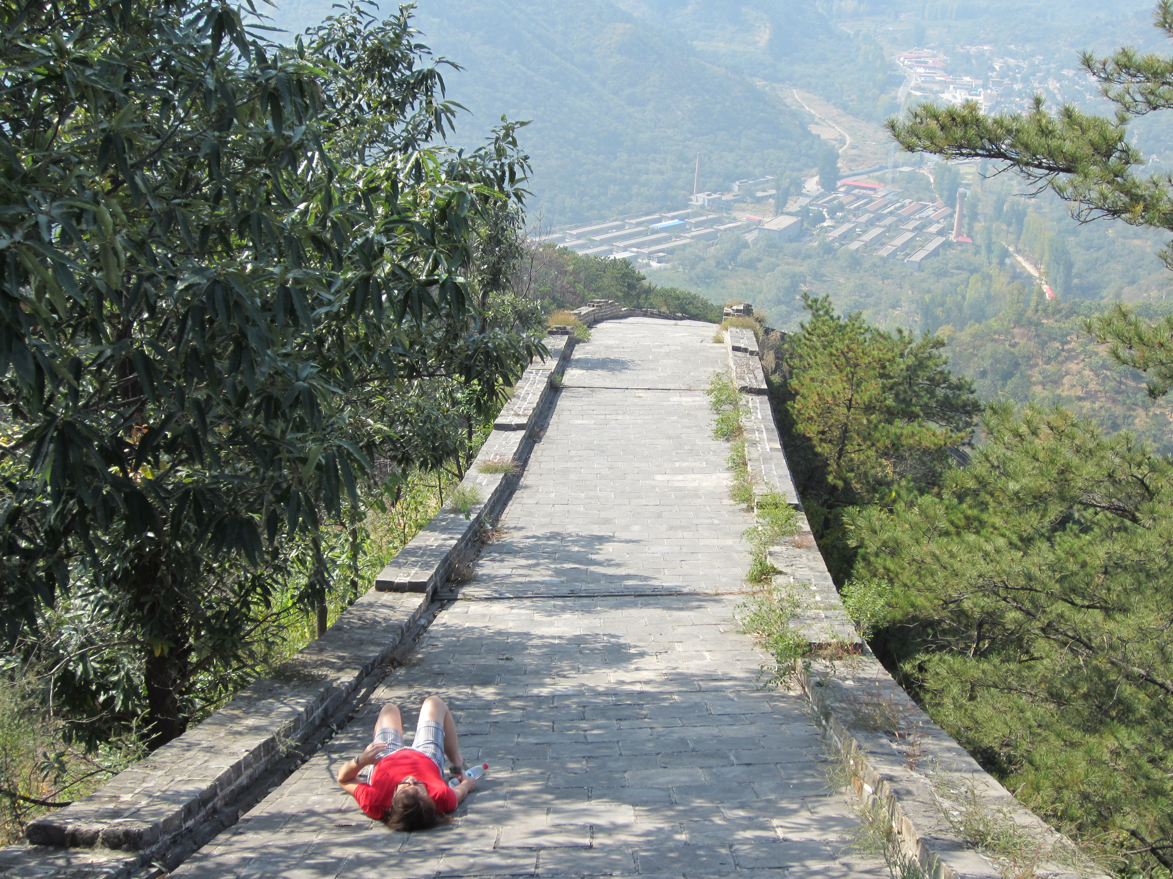 Resting on the Great Wall